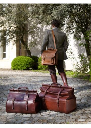 """Le Sac week-end """" Diligence"""" en cuir petit modèle"""