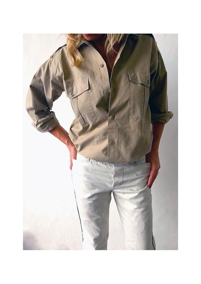 Beige Military Desert Shirt