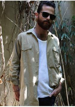 La chemise militaire beige désert