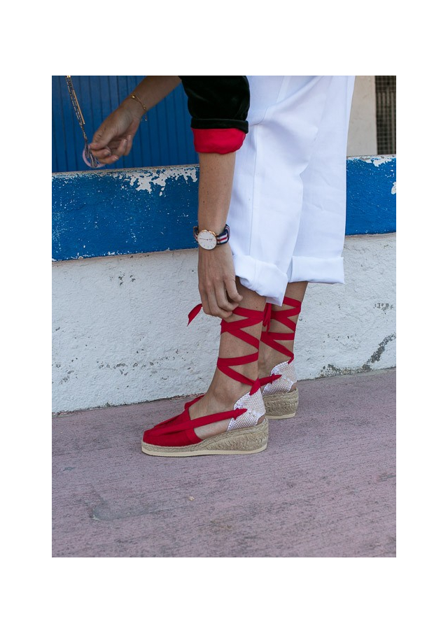 Catalan Espadrilles with Wedges and Ribbons
