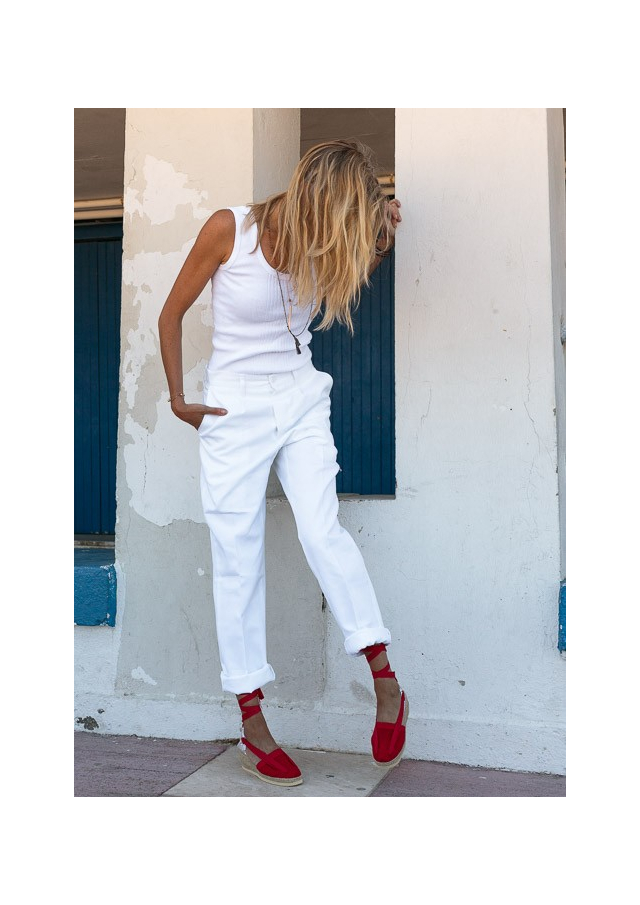 "The Authentic White Trousers of the Camargue ""Razeteur"""