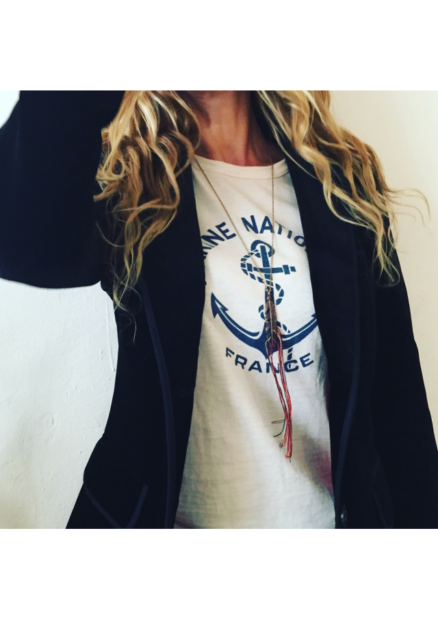 French navy sweatshirt