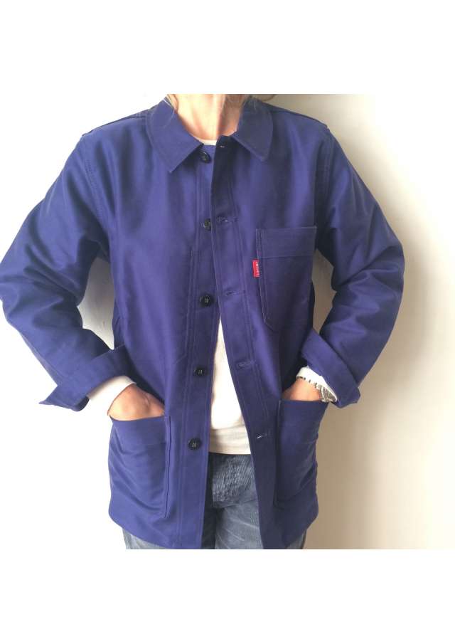 Work Jacket in Coated Cotton