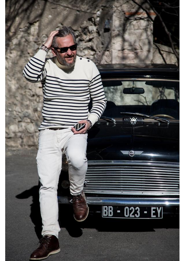 Stripy Marine Pullover