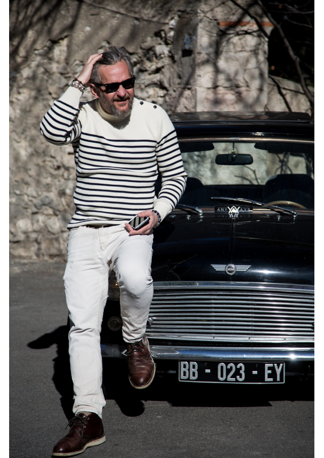 The French Striped Navy Sweater
