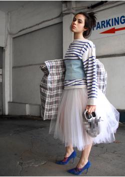 Mid-long rehearsal tulle skirt