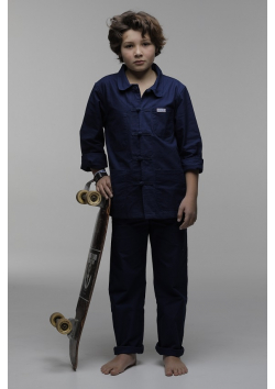 The Chinese traditional blue workwear