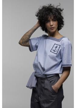 French navy sweatshirt