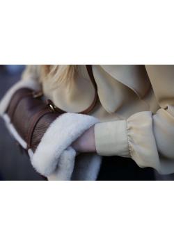 Woolen Hunting Muff in Calfskin