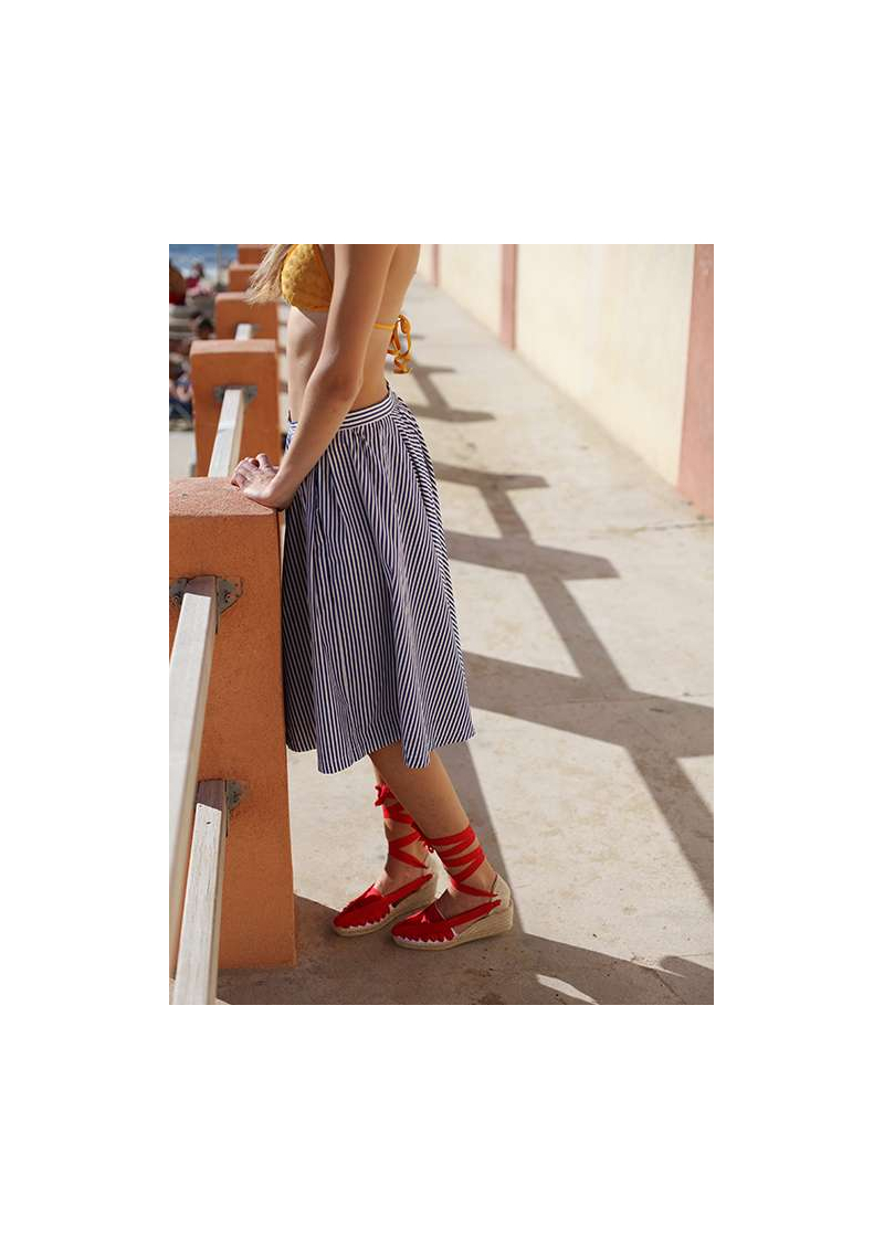 Catalan Espadrilles with Wedged Heels and Ribbons