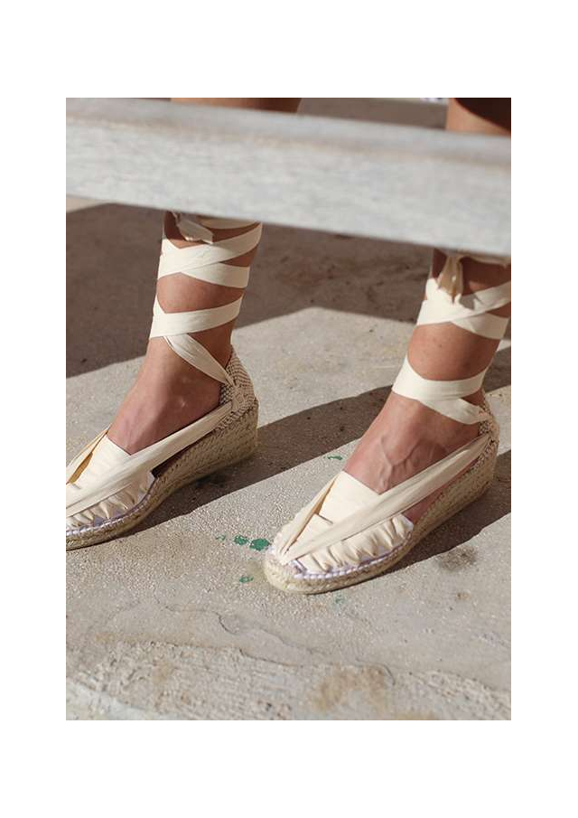 Barcelona Espadrilles with Wedges and Laces