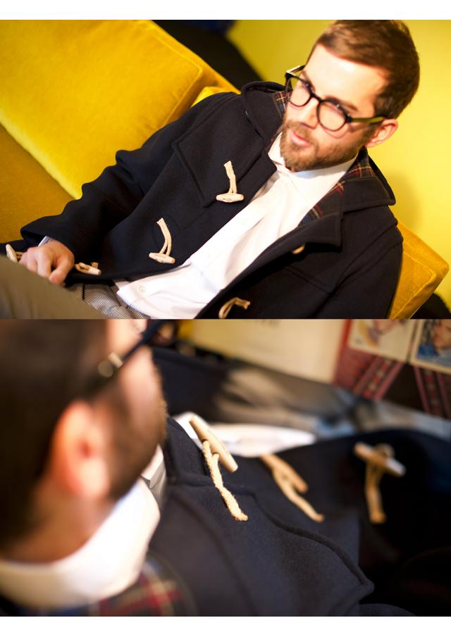 Le duffle coat anglais aux attaches de bois