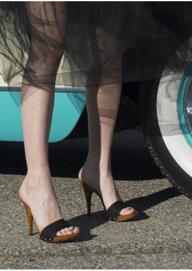 The High Wooden Pin-Up Mules