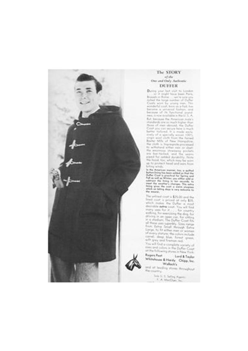Le duffle-coat anglais aux attaches de bois