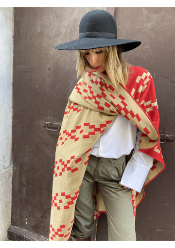 Genuine knitted poncho from...
