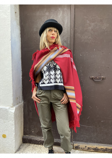 Embroidered poncho from...