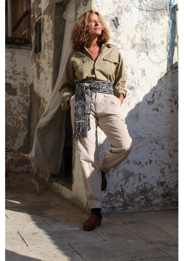 Gaucho pants in corduroy...