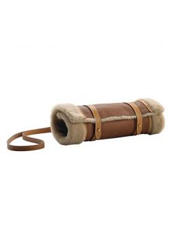 Manchon de chasse chauffe-mains en cuir et taurillon
