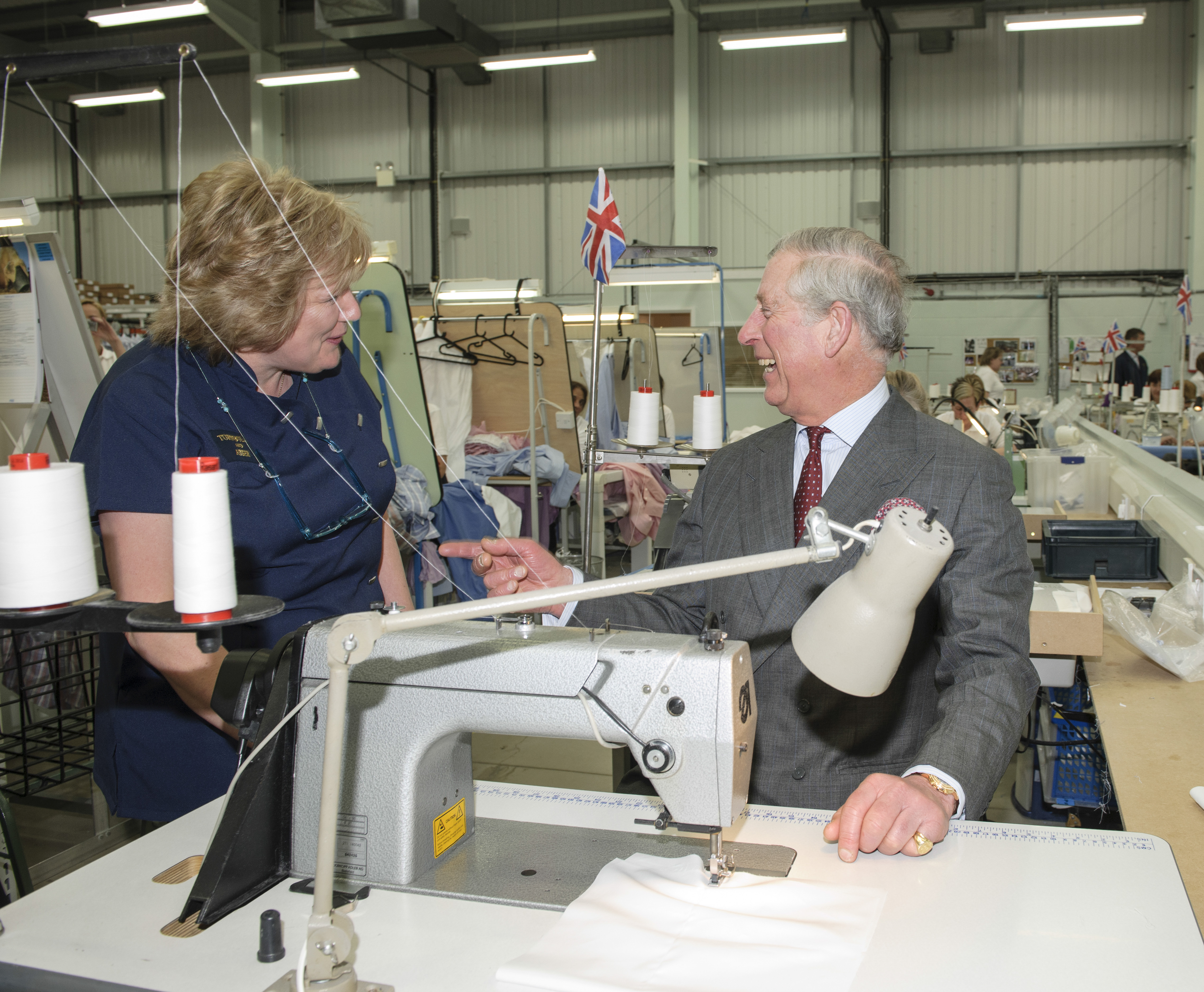 Prince Charles visits Turnbull & Asser