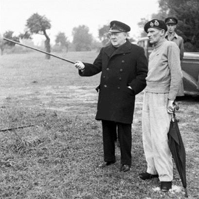 Wiston Churchill portantun caban de la Royal Navy