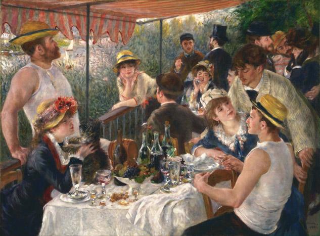 Le déjeuner des canotiers par Renoir