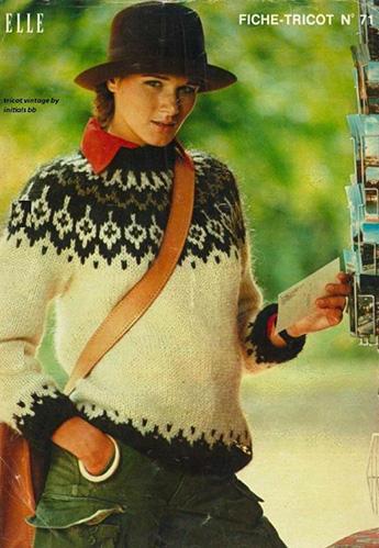 Lopapeysa en Elle, 1976