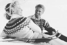Alpinisme années 50 en lopapeysa