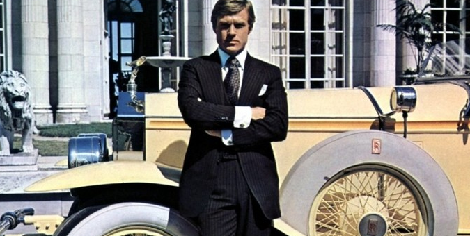 Robert Redford de Gatsby le Magnifique en chemise de Turnbull & Asser