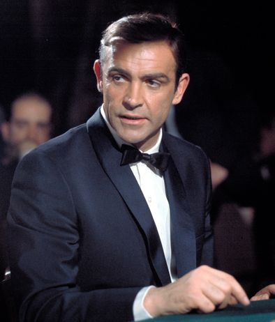 Sean Connery wearing a tuxedo shirt from Turnbull & Asser