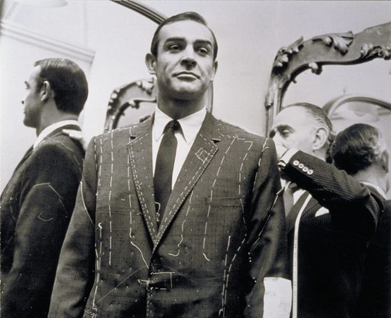 Sean Connery from James Bond in a Turnbull & Asser shirt